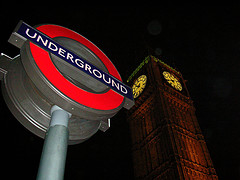 London Underground sign, Westminster, London